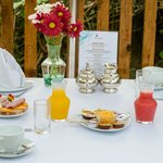 Breakfast can be served in the comfort of your chalet or patio.