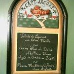 Un menu le soir.... la citation du jour au petit matin....