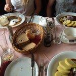 goulash, potato dumplings and roast beef with cream sauce