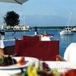 Blick über den Tisch zum Haven