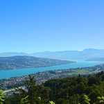 View to Lake Zurich and the Alps, from Uetliberg