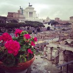 Rooftop terrace view �� best view in Roma
