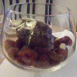 Raspberry and ice cream