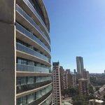 Вид с балкона на соседнее 19ти этажное здание отеля