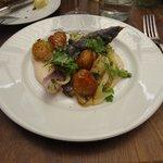 Roast Potatos and Cabbage