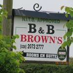 The sign to the Best B&B