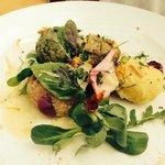 Herb dumplings with fresh Alp cheese