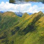 Flying over Fiordland