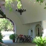 Innenhof - hier der Fahrradverleih