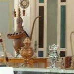 Orientalische Deko vorm Tee'haus'.