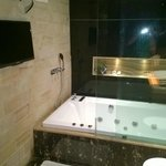 TV and Jacuzzi tub is great Plus