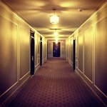 The (possibly haunted) hallways of the Fort Garry Hotel.