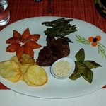 Beautifully presented fillet steak! Also very delicious - recommend this to anyone visiting this