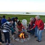 Evening Bonfire at Best Western Harbour Pointe Lakefront Hotel
