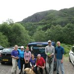End of trip and leaving Glen Nevis