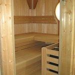 Blick in die Sauna