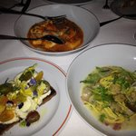 Jersey Ricotta Toast, Gnocchi, & Clams with Spaghetti