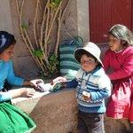 Kids on Taquile Island, Lake Titacaca