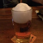 A perfect head on a German beer