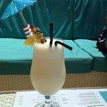Pina Colada at Pebbles Beach Bar