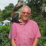 Big surprise, a monkey on my shoulder!