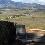 a chair with a view (at the pizzeria)