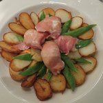 Monkfish with Bacon and Scallops