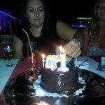 Yasmine with my cake