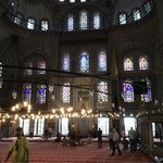 Stained glass inside the Blue Mosque