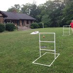 Ladder ball behind the Lodge