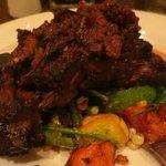 Flat iron steak and veggies