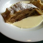 Apple Strudel with Traditional Vanilla Cream Sauce