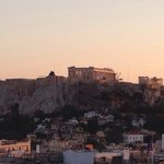 View of the Acropolis from hotel roof