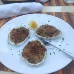 the baked clams