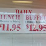 Great buffet choices & reasonable price for what you are getting