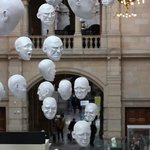 The famous Hanging Heads art installation