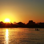 Our sunset cruise on the Zambezi at Royal Chundu