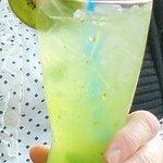 Drink with kiwi fruit