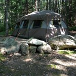 Our tent, site 625