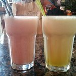 Guava and passion fruit juices. Very tasty!