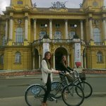 Blue Bike Zagreb cycling and having fun