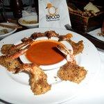 Gamberi 'al Forno' - Crispy baked shrimp with Lidia's spicy tomato sauce