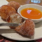 New rice balls with a sweet dip