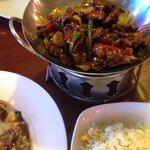 Borneo lamb was delicious.