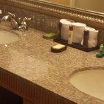 Bathroom all granite!