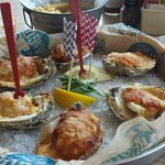 Baked stuffed oysters