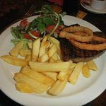 Rump Steak and chips