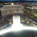 Nice view of the fountain show at The Bellagio