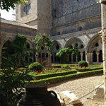the cloister courtyard