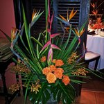 Flowers and Decorations at Maison Martinique Restaurant